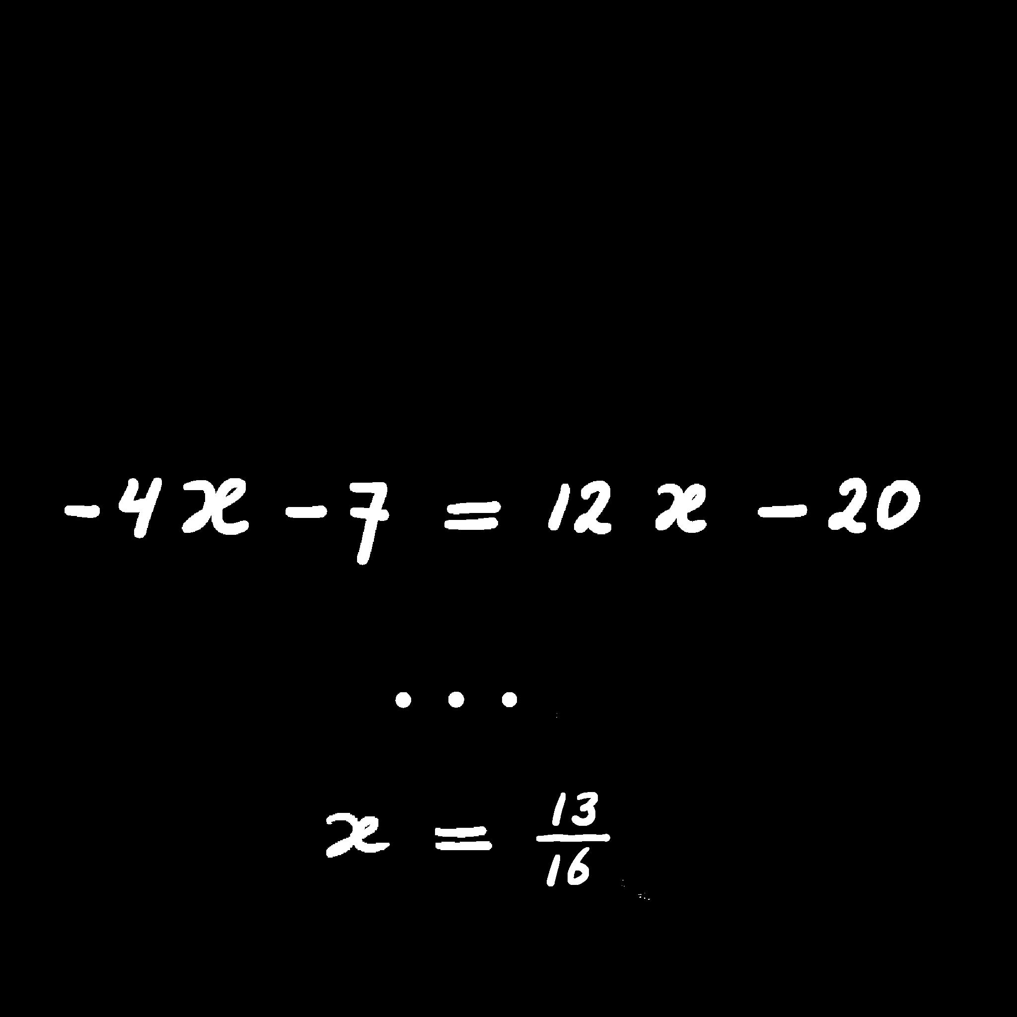 lineaire vergelijkingen oplossen