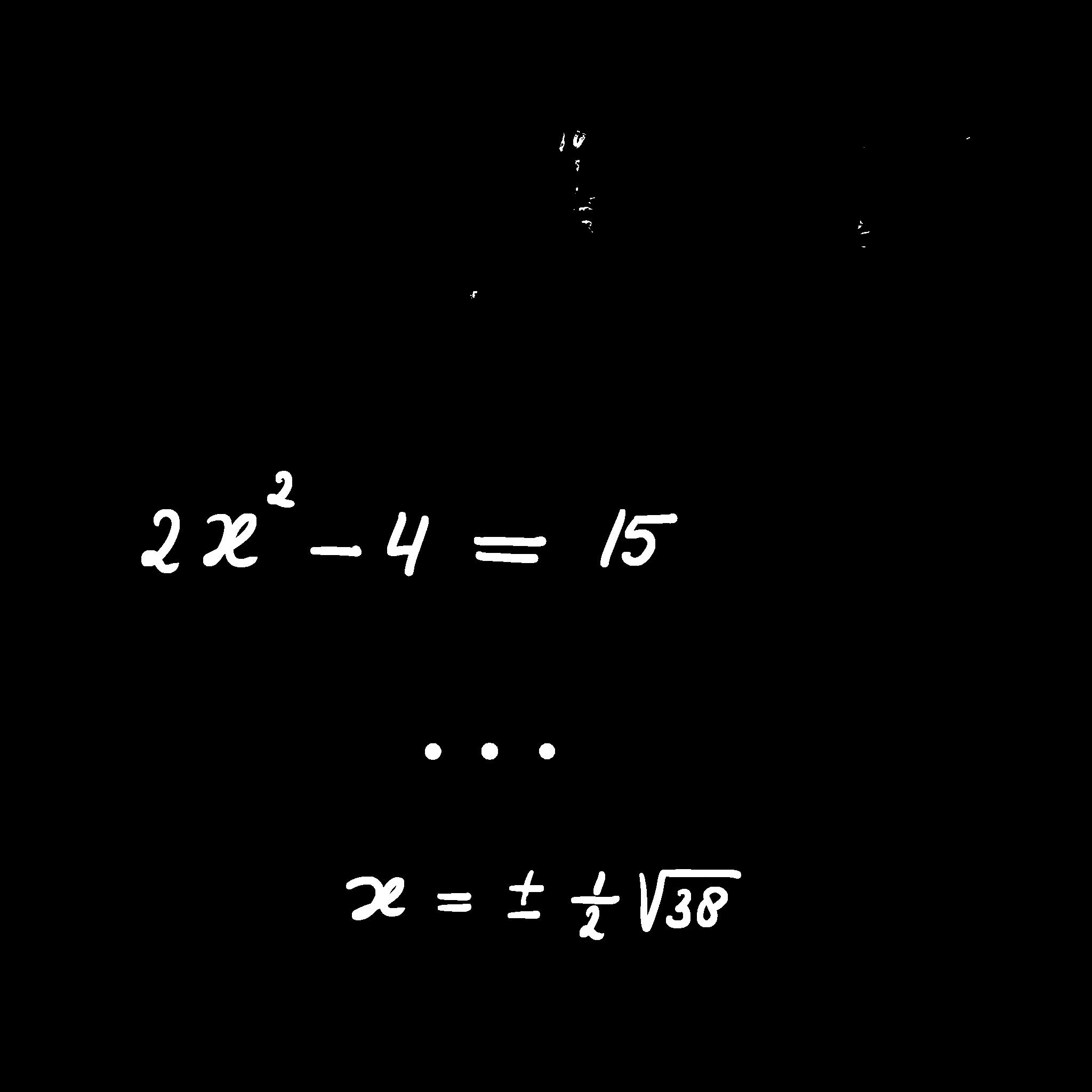 kwadratische vergelijking zonder x-term oplossen